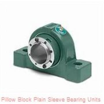 1 in x 3-31/32 to 4-13/64 in x 1-1/16 in  Dodge P2BPSEZ100P Pillow Block Plain Sleeve Bearing Units
