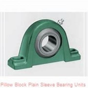 1-7/16 in x 4-13/16 to 4-15/16 in x 3 in  Dodge P2BBASP107 Pillow Block Plain Sleeve Bearing Units
