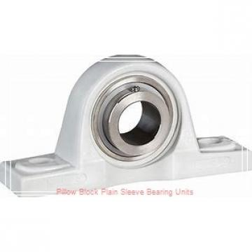 2-1/2 in x 6-7/8 to 7-3/8 in x 5 in  Dodge P2BBASP208 Pillow Block Plain Sleeve Bearing Units