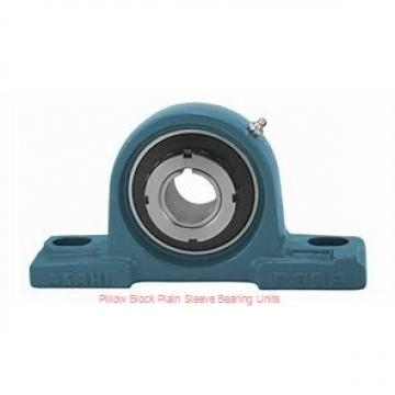 1-1/4 in x 4 to 4-1/4 in x 2-1/2 in  Dodge P2BBASP104 Pillow Block Plain Sleeve Bearing Units