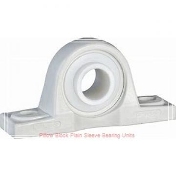 1-3/16 in x 4 to 4-1/4 in x 2-1/2 in  Dodge P2BBASP103 Pillow Block Plain Sleeve Bearing Units