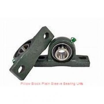 2-7/16 in x 7-11/16 to 8-5/16 in x 5 in  Dodge P4BBAA207 Pillow Block Plain Sleeve Bearing Units