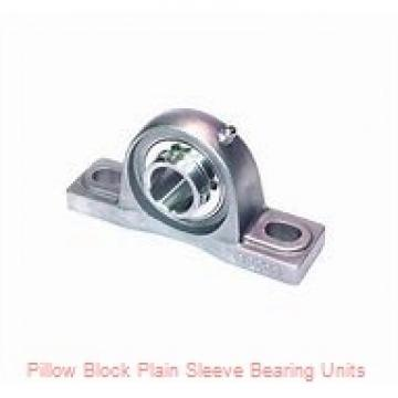 1-11/16 in x 4-11/32 to 4-21/32 in x 3-3/8 in  Dodge P2BBASO111 Pillow Block Plain Sleeve Bearing Units