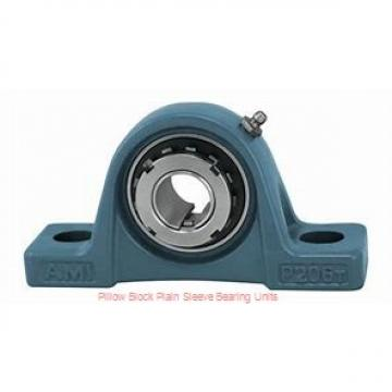 1-1/8 in x 3-3/8 to 3-5/8 in x 2-3/8 in  Dodge P2BBASO102 Pillow Block Plain Sleeve Bearing Units
